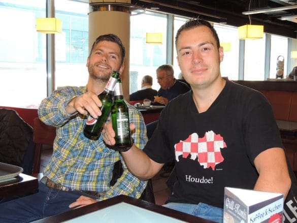 Bram & Ruud having one last beer