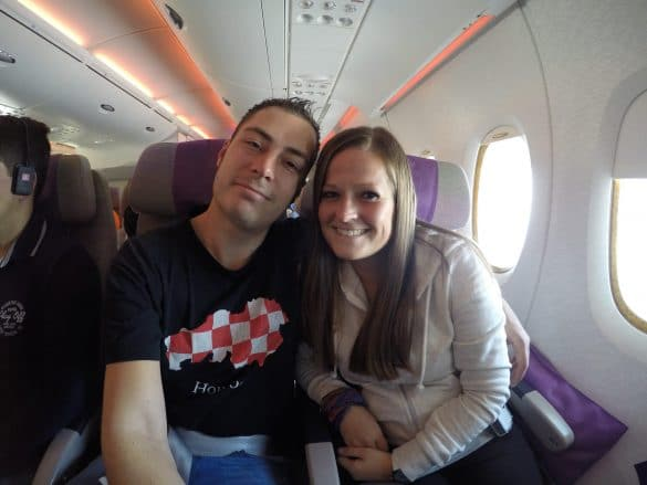 Us in the airplane