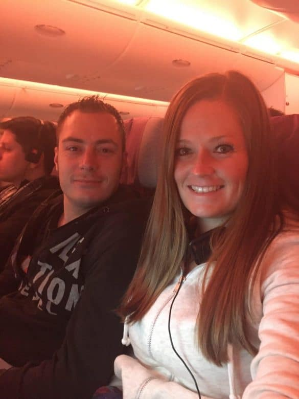Bram & Manon in the plane