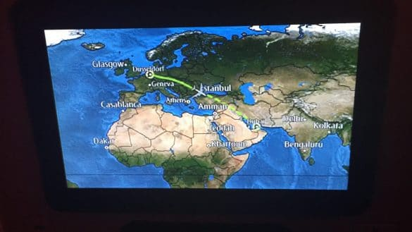 Flight plan in the plane