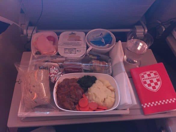Dinner in the plane
