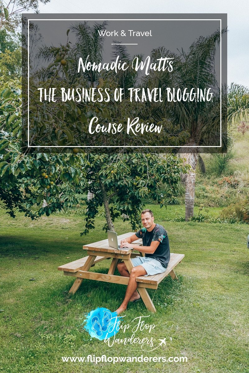 Pin It Nomadic Matt Travel Blogging Course