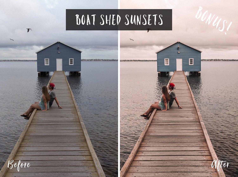 Boat Shed Sunsets   Flip Flop Wanderers Presets