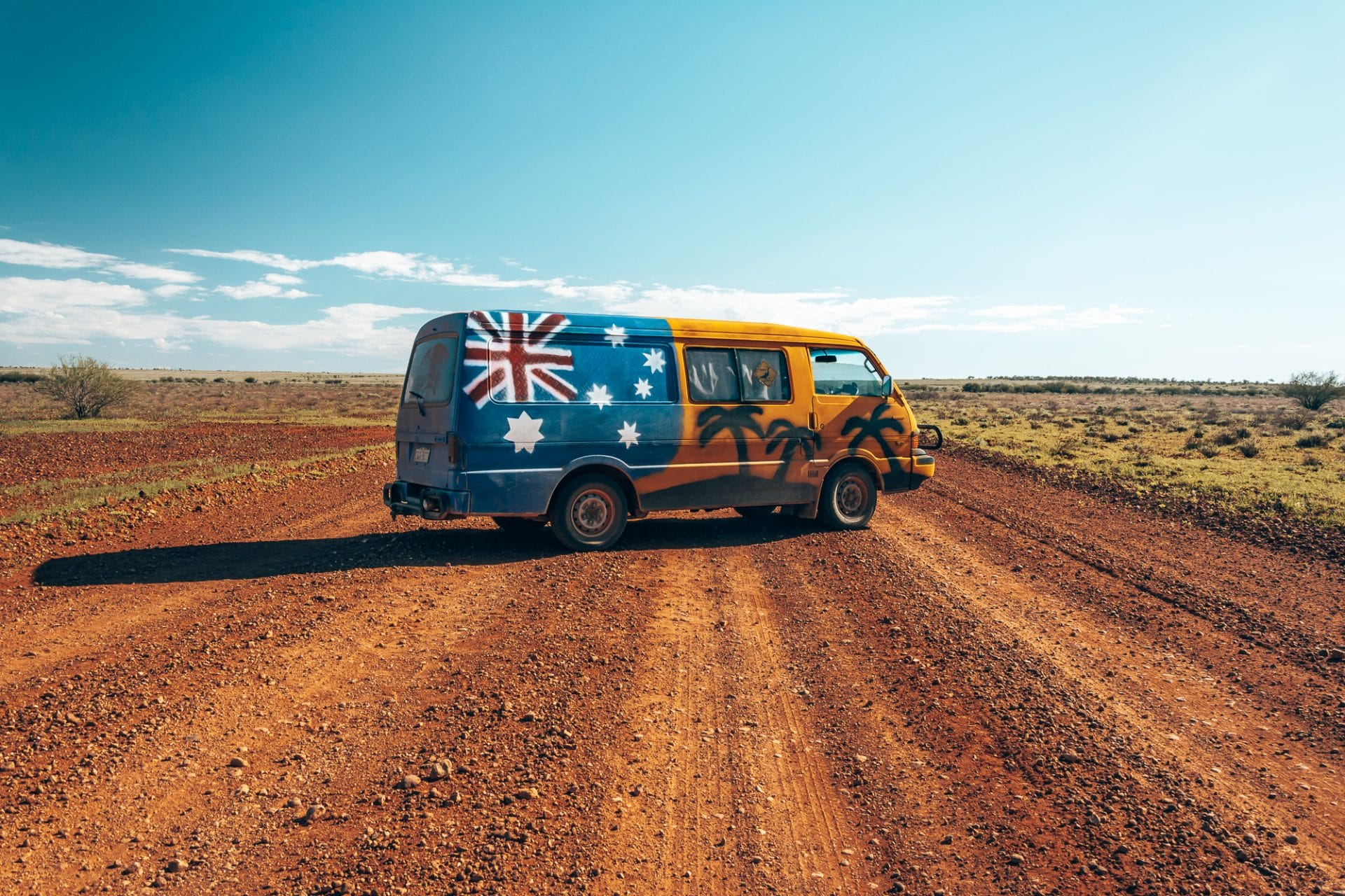 Campervan in the outback of Australia
