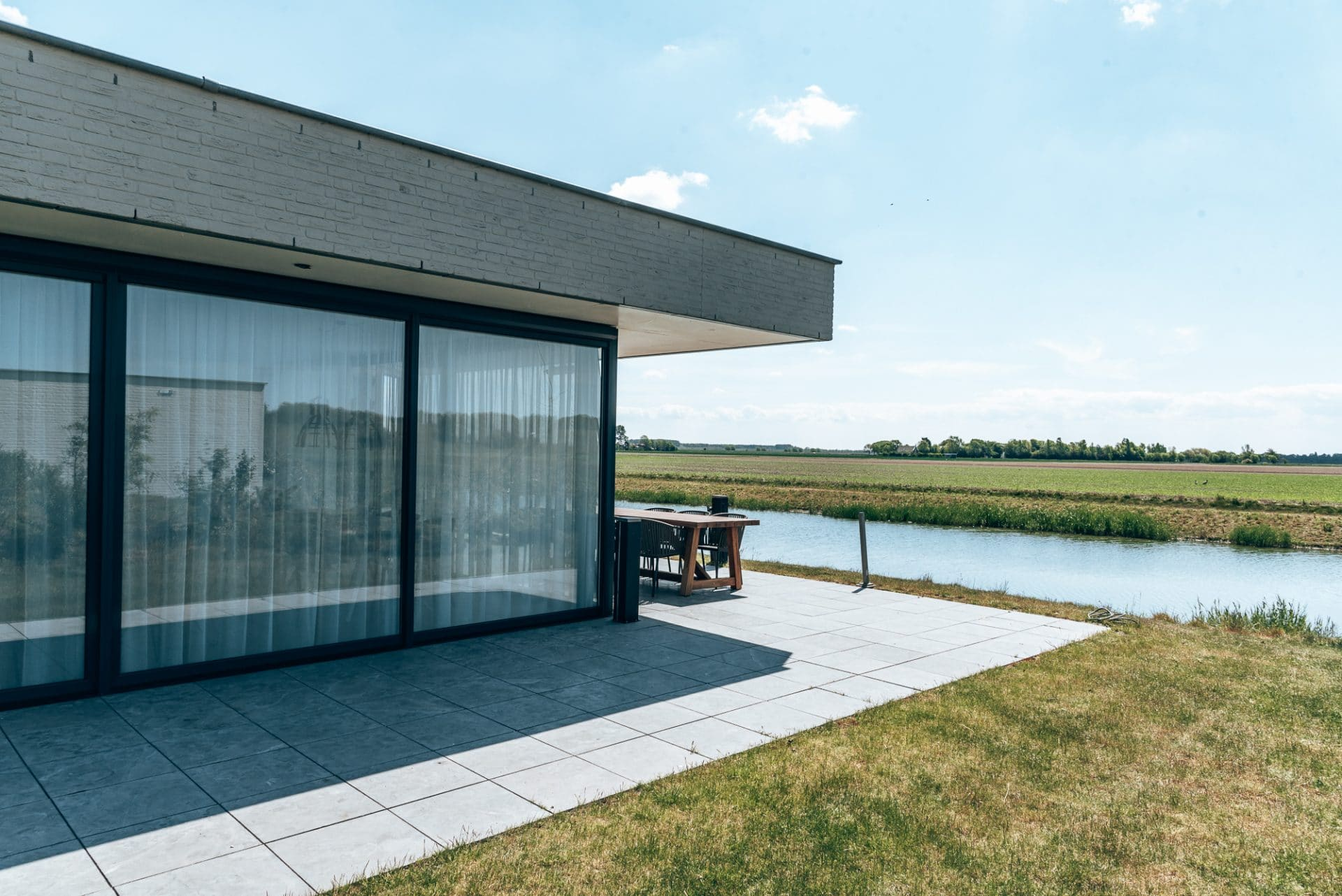 Luxury villa in Zeeland, the Netherlands with polder view