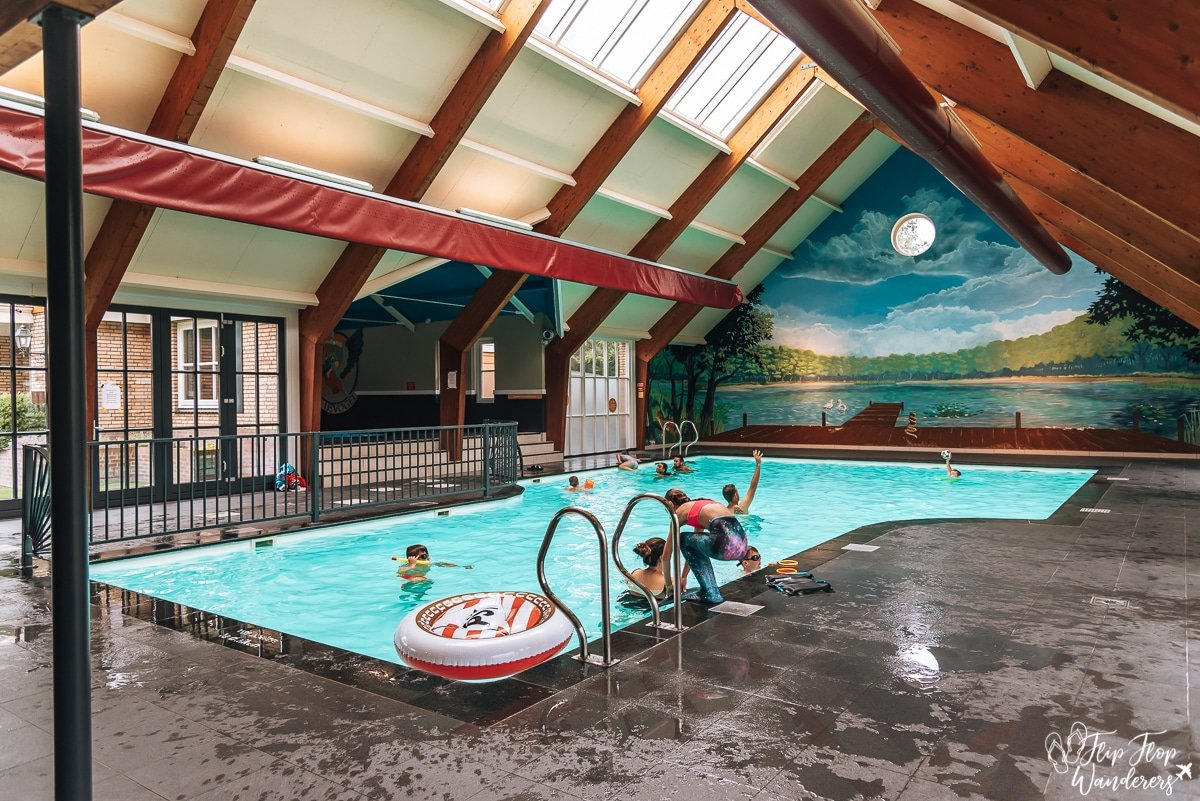 The indoor pool of holiday park De IJsvogel in the Veluwe