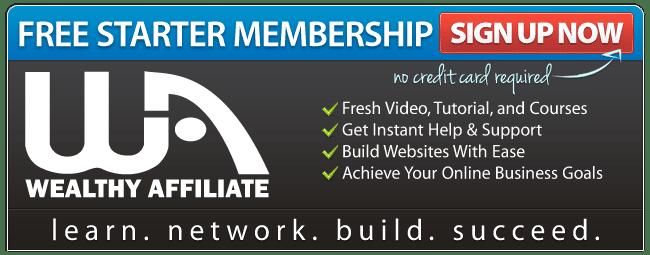 Wealthy Affiliate starter membership banner
